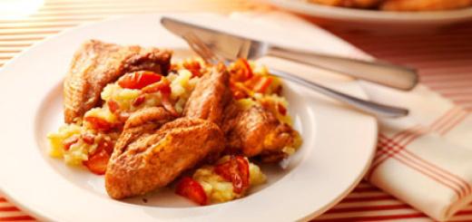 Hollandse kippenvleugels met hete bliksem